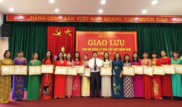 Phú Thọ: Giao lưu cán bộ quản lý giỏi cấp học Mầm non