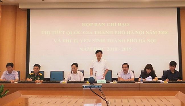 Hà Nội rà soát công tác chuẩn bị thi THPT quốc gia năm 2018