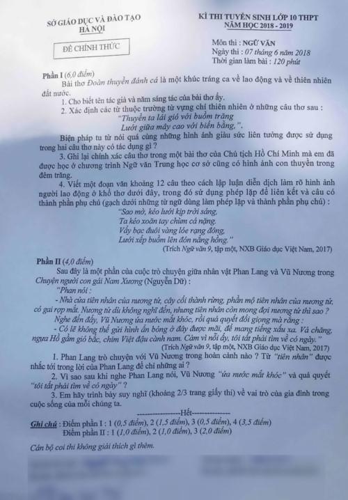 Thí sinh Hà Nội hào hứng với bài thi Văn vào lớp 10 - Ảnh minh hoạ 2