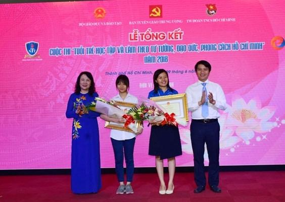 """Tổng kết và trao giải cuộc thi """"Tuổi trẻ học tập và làm theo tư tưởng, đạo đức, phong cách Hồ Chí Minh"""" năm 2018."""