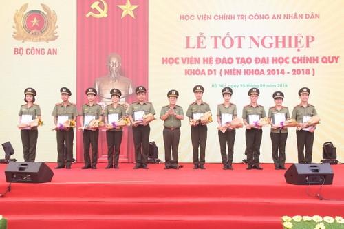 162 học viên đầu tiên của Học viện Chính trị Công an Nhân dân đã tốt nghiệp