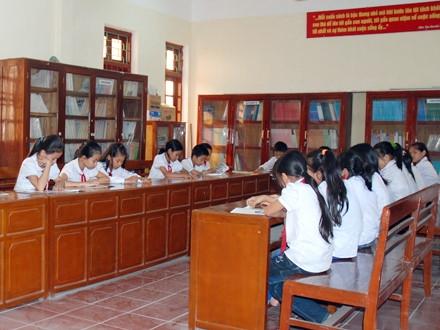 Phấn đấu 97% trường phổ thông có phòng thư viện độc lập