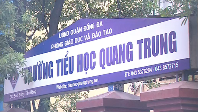 Sở GD&ĐT Hà Nội lên tiếng về việc giáo viên phạt học sinh ở trường tiểu học Quang Trung