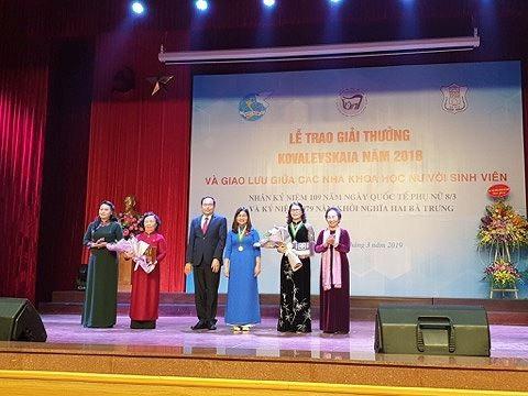 GS trẻ nhất ngành Thú y được nhận giải thưởng Kovalevskaia