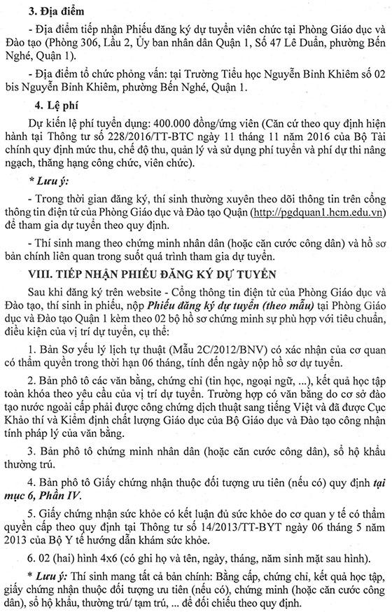 UBND Quận 1, TP.Hồ Chí Minh tuyển dụng viên chức giáo dục năm học 2019 – 2020 - Ảnh minh hoạ 18
