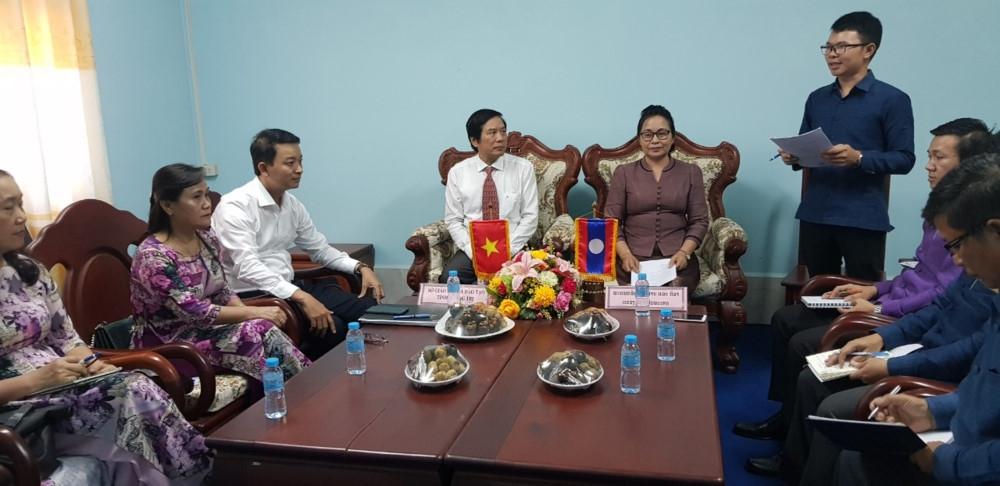 Ngành GD&ĐT Quảng Trị thắt chặt hợp tác với nước bạn Lào