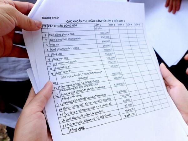 Hòa Bình: Tăng cường thanh kiểm tra thu chi đầu năm học
