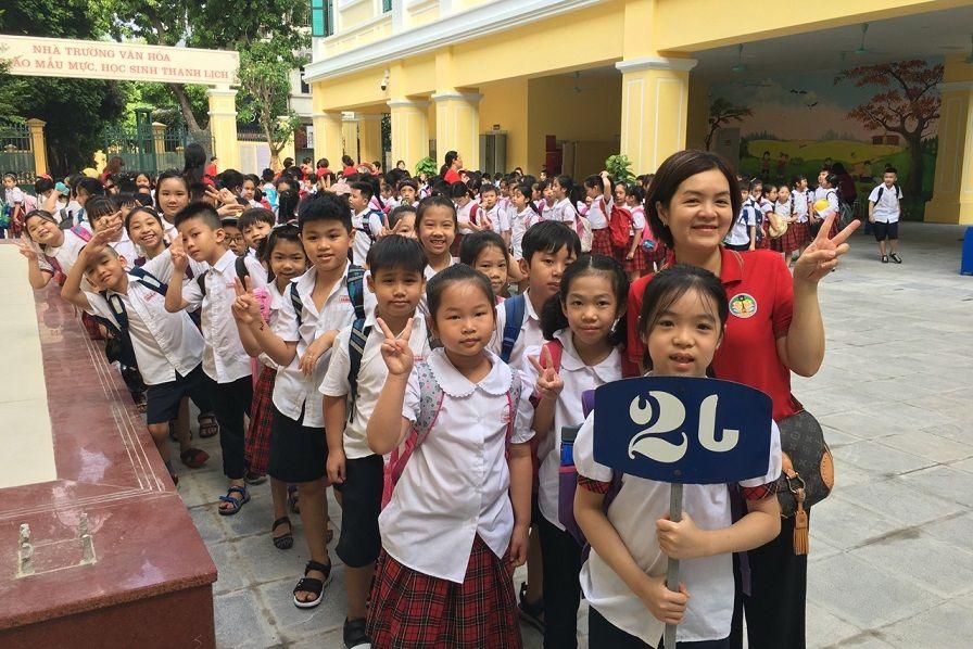 Học sinh Tiểu học Tràng An hào hứng học tập tại ngôi trường mới khang trang, hiện đại - Ảnh minh hoạ 7